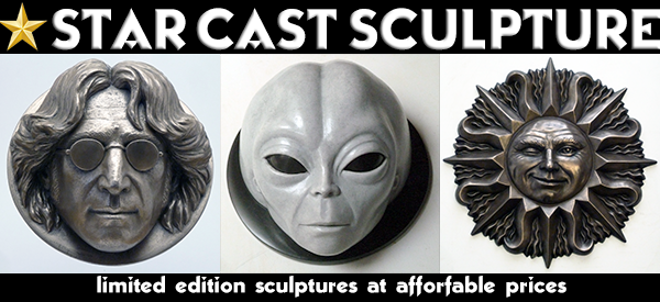 star cast sculpture